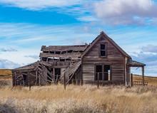 Abandoned Homestead In The Oregon High Desert