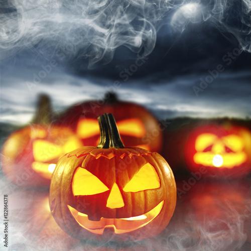 Photo  halloween pumpkins