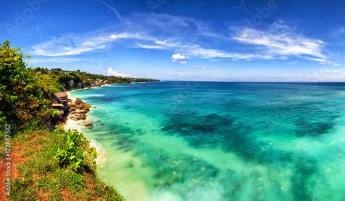 Cadres-photo bureau Bali Panoramic sea view with picturesque beach. Dreamland beach, Bali, Indonesia