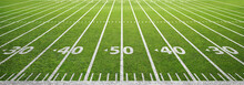 American Football Field And Grass