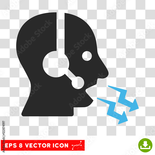 Vector Operator Shout EPS vector icon  Illustration style is