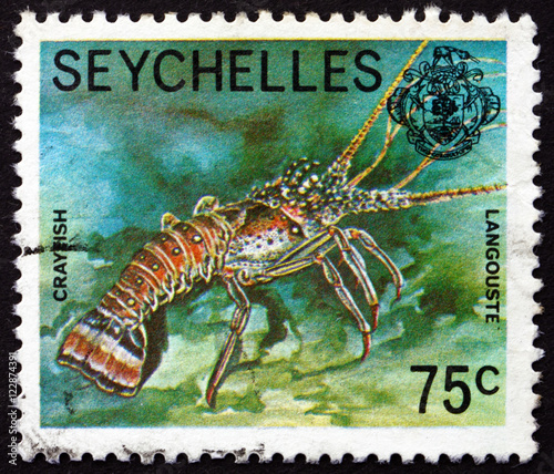 Postage stamp Seychelles 1978 Crayfish