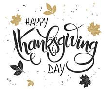 Vector Hand Lettering Thanksgi...