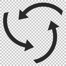 Swirl Arrows Vector Icon. Imag...