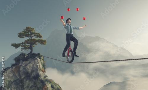 Fotografia, Obraz Young man as juggler