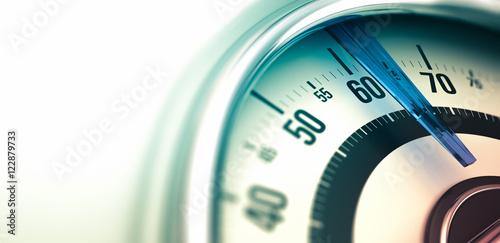 Fotografia  Weight Care, Bathroom Scale Closeup.