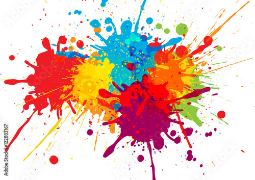 Spoed Foto op Canvas Vormen vector colorful background design. illustration vector design