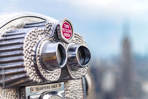 Fotografie, Tablou  Beautiful view of downtown Manhattan from the Rockefeller Center