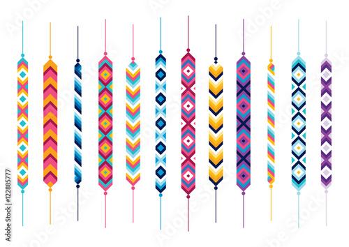 Foto Set of friendship hippy bracelets