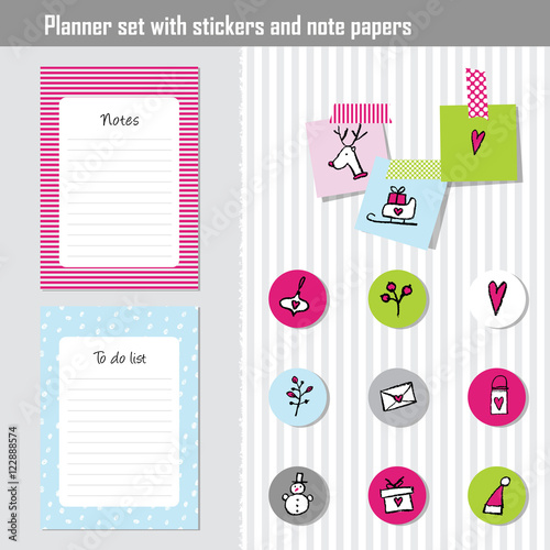 weekly planner note paper notes to do list organizer planner template