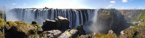 Photo Stands Blue sky Victoria Falls