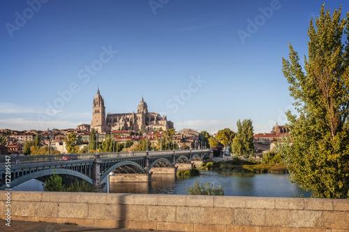 catedral de salamanca, rio tormes, puente de hierro