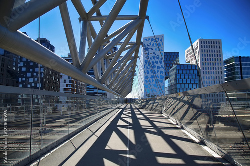 Akrobaten pedestrian bridge in Oslo, Norway