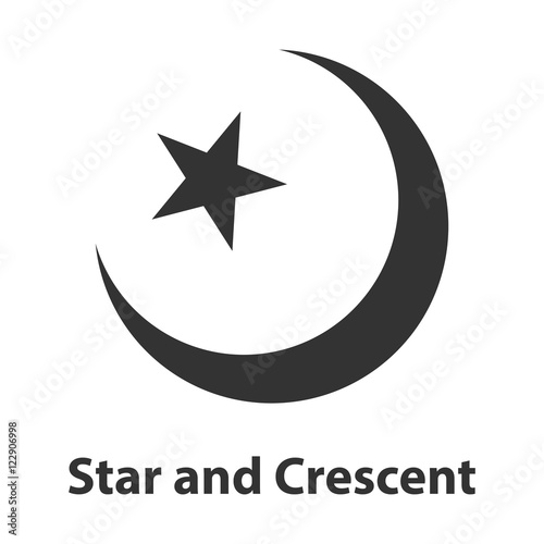 Icon Of Star And Crescent Symbol Islam Religion Sign Buy This