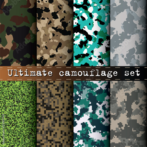 Ultimate Camouflage Set Of 40 Various Camo Patterns Vector Buy This Beauteous Camo Patterns