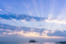 Rays Of The Sunset In Brighton
