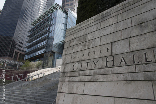 Photo Exterior view of Seattle City Hall, Seattle, Washington State, U