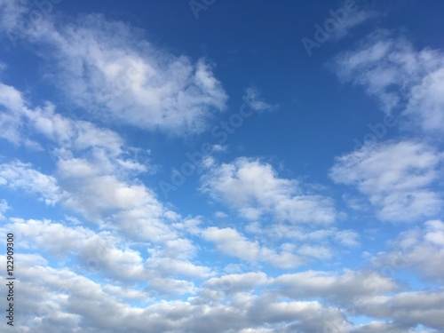 Fototapeta October sky with clouds in afternoon obraz