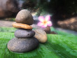 pebble or river stone arrangement in balance