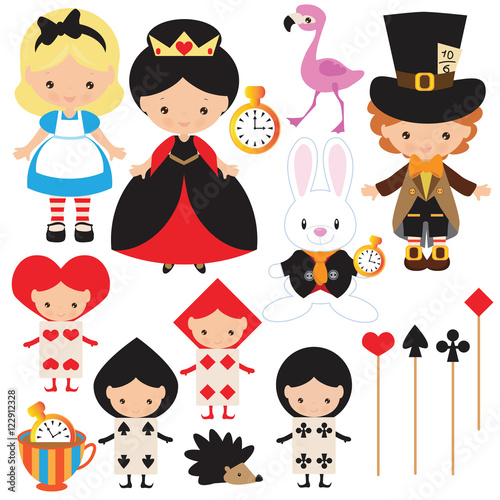 Photo Alice in Wonderland cartoon vector illustration