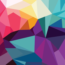Abstract Colorful Triangle Geo...