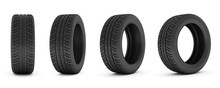 Car Tire. Car Tire Isolated On...