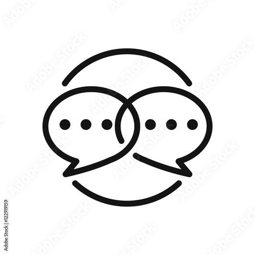Fototapeta social engagement vector illustration design