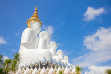 White Buddha At Wat Pra That Pha Son Keaw Temple Of Khao Kor, Petchaboon, Thailand.