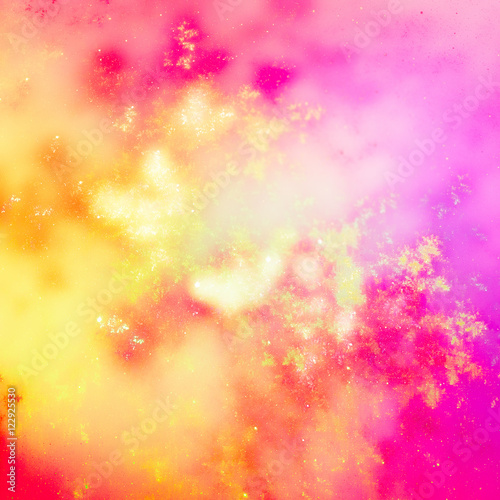 Fotografia, Obraz  A dynamic and dramatic abstraction in pink and gold tones.