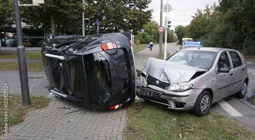 Autounfall in der Stadt