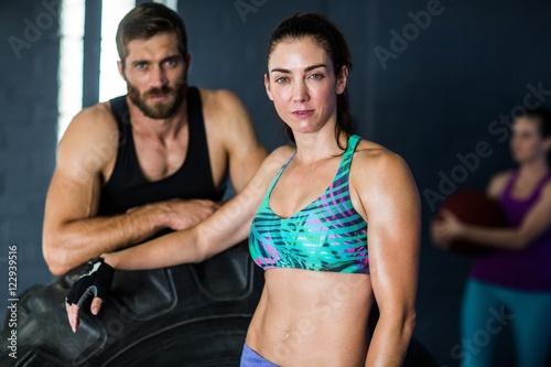 Fototapety, obrazy: Portrait of serious athletes
