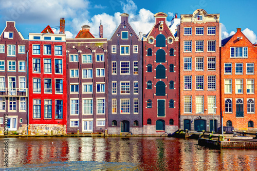 Houses in Amsterdam Wallpaper Mural