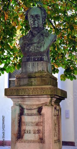 Freiburg im Breisgau - Büste des Alban Stolz vor der Konviktskirche Wallpaper Mural