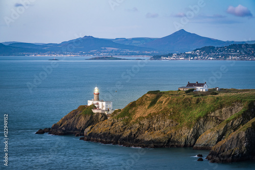Howth lighthouse before sunrise Wallpaper Mural