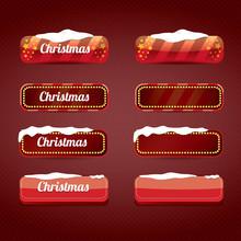 Christmas Web Buttons Set. Win...
