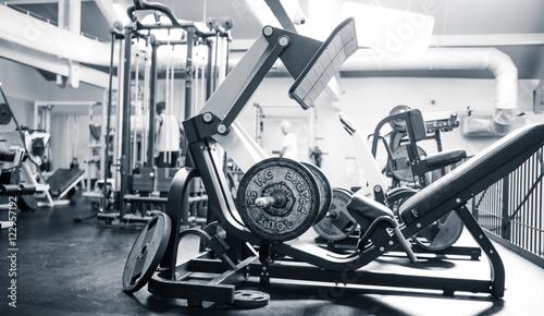Fotografie, Obraz  Salle de fitness effet vintage