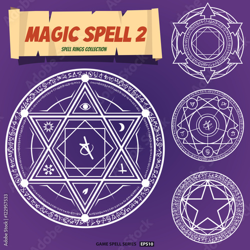 Canvas Print Magic spells ring