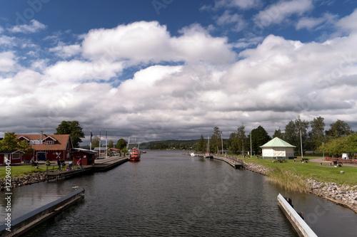 In de dag Kanaal Göta Kanal bei Karlsborg in Schweden
