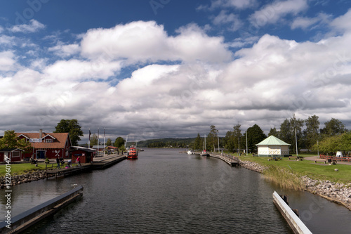Foto op Aluminium Kanaal Göta Kanal bei Karlsborg in Schweden