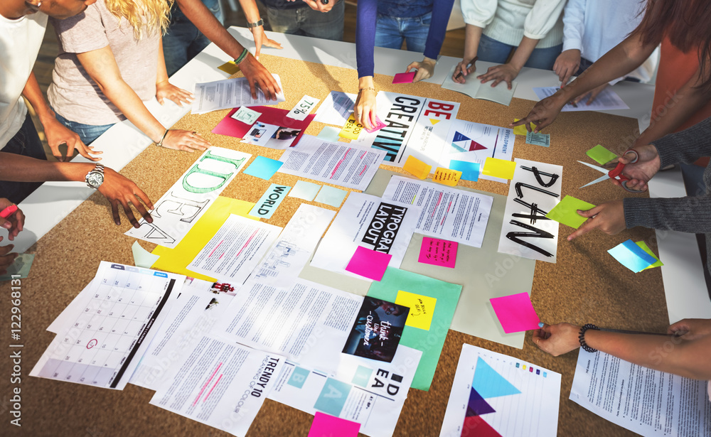 Fototapety, obrazy: Student Classmate Friends Understanding Study Concept