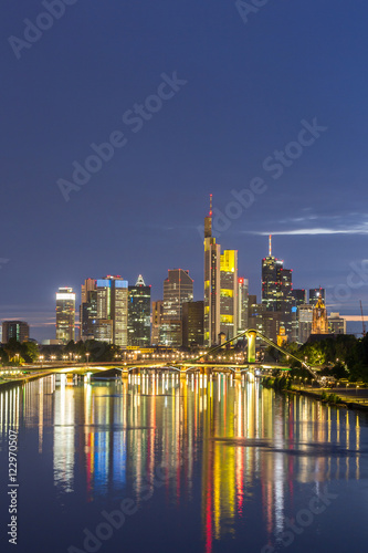 Photo Stands Germany Frankfurt skyline