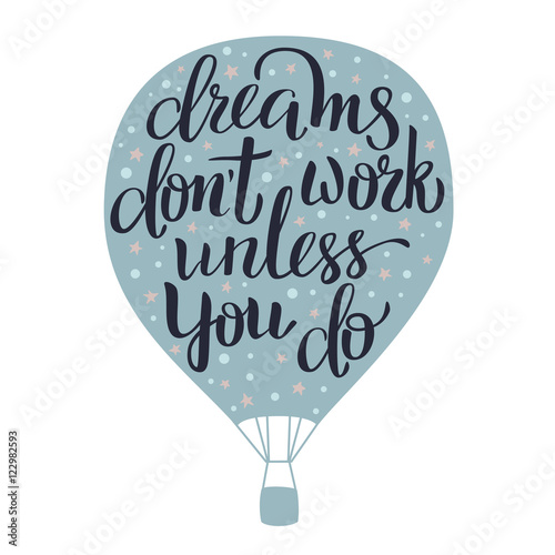 Canvas Prints Positive Typography Dreams lettering