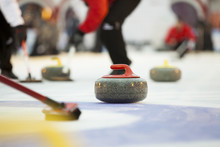 Curling Stones On Ice