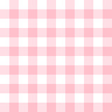 Checkered seamless pattern in feminine light pink and white - 122985153