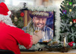 Farmer drinks whiskey with Santa Claus online