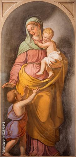 Fotografija  ROME, ITALY - MARCH 11, 2016: The symbolic fresco of Love as the cardinal virtue in church Basilica di Santi Giovanni e Paolo by Francesco Coghetti (1801 - 1875)