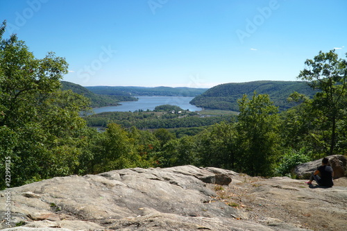 Fotografie, Tablou  Overhead view from Bear Mountain Park, New York in the summer