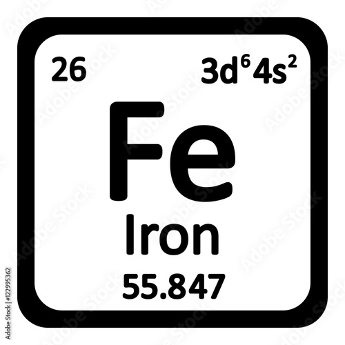 Periodic table element iron icon buy this stock vector and periodic table element iron icon urtaz Images
