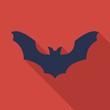 Bat flat icon on isolated transparent background.