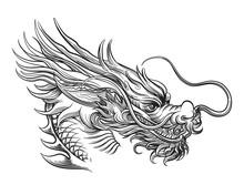 Hand Drawn Chineese Dragon Iso...